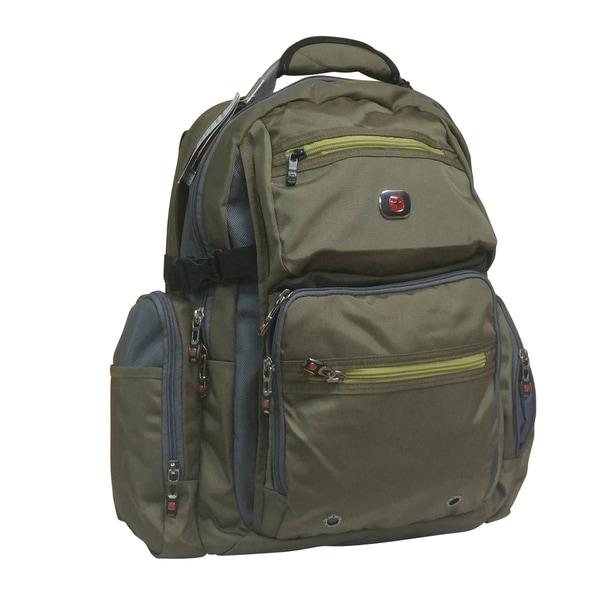 Swiss Gear Breaker Olive Polyester 16-inch Laptop Backpack