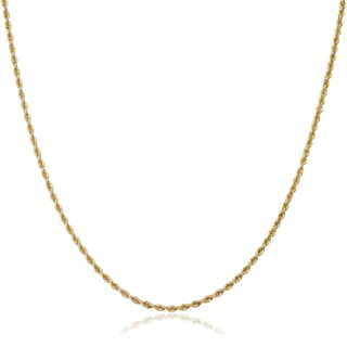 Fremada 18k Yellow Gold 1.6-mm Rope Chain Necklace (18 or 20 inches)