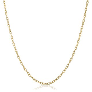Fremada 18k Yellow Gold 1.9-mm Textured Cable Chain Necklace (16 - 24 inches) (4 options available)
