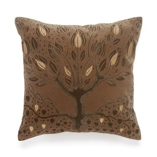 BiniChic Embroidered Tree of Life Decorative Throw Pillow