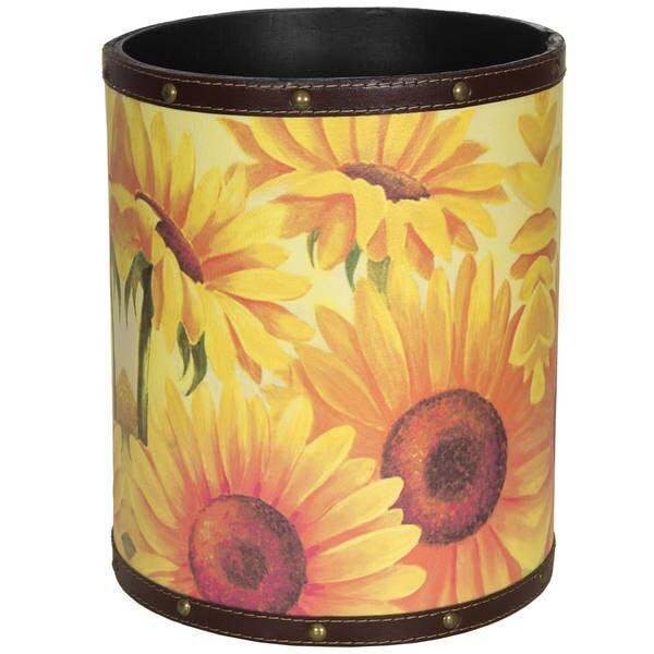 Handmade Sunflower Garden Waste Basket (China)
