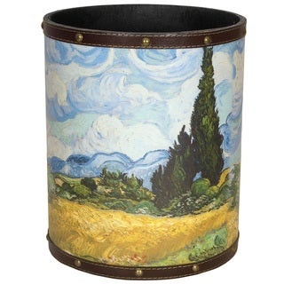 Handmade Van Gogh Wheat Field Waste Basket (China)