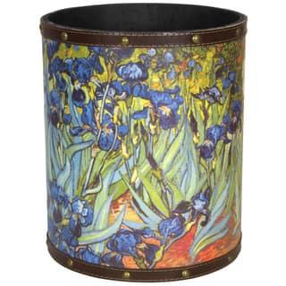Handmade Van Gogh Irises Waste Basket (China) https://ak1.ostkcdn.com/images/products/12356883/P19184191.jpg?impolicy=medium