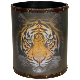 Handmade Bengal Tiger Waste Basket (Tiger)