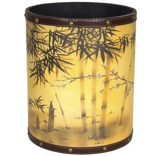 Handmade Bamboo Tree Waste Basket (China)