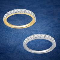 Divina 10k Yellow Gold 1/2ct TDW Diamond Wedding Band