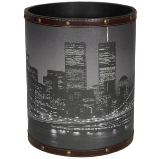 Handmade Brooklyn Bridge Waste Basket (China)