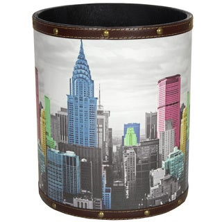 Handmade Highlights of New York Waste Basket (China)