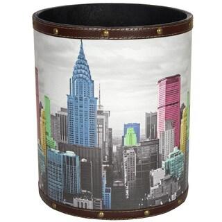 Handmade Highlights of New York Waste Basket (China)