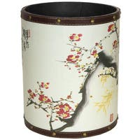 Handmade Cherry Blossom Waste Basket (China)