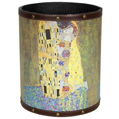 Handmade Klimt The Kiss Waste Basket (China)