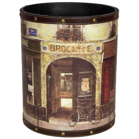 Handmade Parisian Cafe Waste Basket (China)