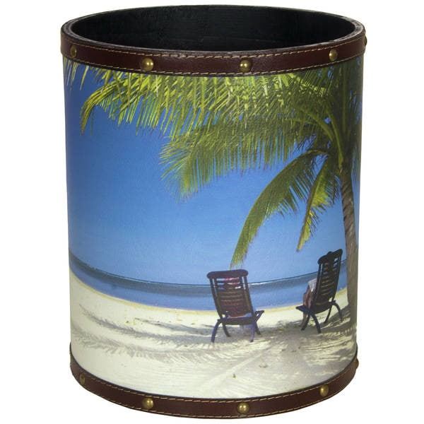 Handmade Caribbean Beach Waste Basket (China)