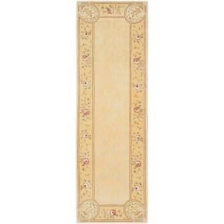 ecarpetgallery (No Suggestions) HT Yellow WOOL SILK Rug (2'6 x 8'0)