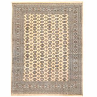 Herat Oriental Pakistani Hand-knotted Bokhara Wool Rug (9' x 12'2)