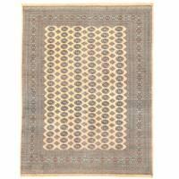 Herat Oriental Pakistani Hand-knotted Bokhara Wool Rug - 9' x 12'2