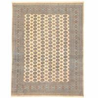 Handmade Herat Oriental Pakistani Bokhara Wool Rug (Pakistan) - 9' x 12'2