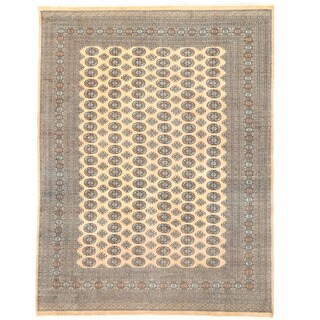 Herat Oriental Pakistani Hand-knotted Bokhara Wool Rug (9' x 12'2) - 9' x 12'2