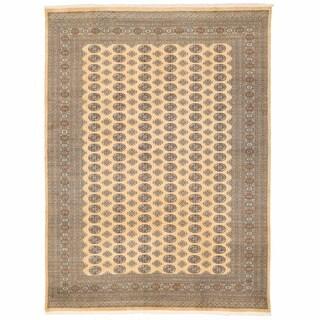Herat Oriental Pakistani Hand-knotted Bokhara Wool Rug (8'11 x 11'10)