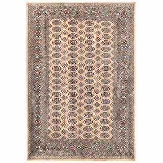 Herat Oriental Pakistani Hand-knotted Bokhara Wool Rug (5'11 x 8'6)