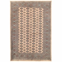 Handmade Herat Oriental Pakistani Bokhara Wool Rug (Pakistan) - 5'11 x 8'6