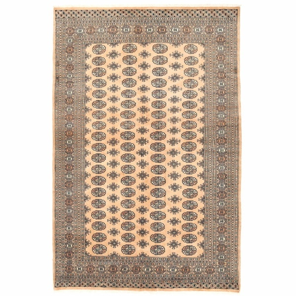 Herat Oriental Pakistani Hand-knotted Bokhara Wool Rug (6' x 9') - 6' x 9'