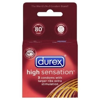 Durex High Sensation Condoms (Pack of 3)