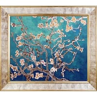 Vincent Van Gogh  'Branches of an Almond Tree' (Luxury Line) Hand Painted Framed Canvas Art