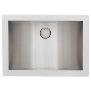 Zero Edge Arcane Handcrafted 18-Gauge Stainless Steel 21 x 15 x 6 in. D Sink