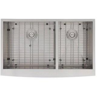 Zero Edge Cartesian Handcrafted 18-gauge Stainless Steel 36 x 22-5/16 x 10-1/2 / 10-1/2 in. D Sink