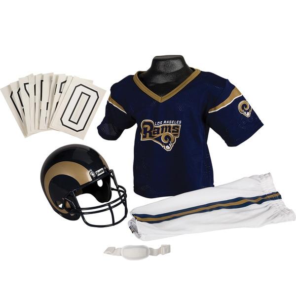 Franklin Sports NFL Los Angeles Rams Deluxe SM Uniform Set