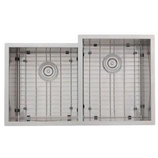 Zero Edge Matrix Reversed Handcrafted 18-gauge Stainless Steel 33 x 19-15/16 x 10 / 10 in. D Sink