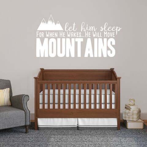 Let Him Sleep For When He Wakes Wall Decal - 60 x 30 Inches