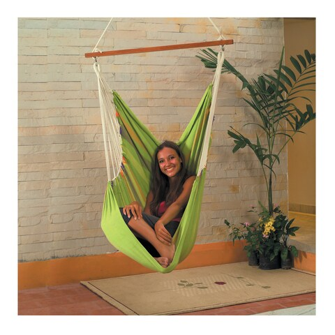 Cotton Fabric Hammock Swing (Green)