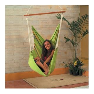 Cotton Fabric Hammock Swing (Green)