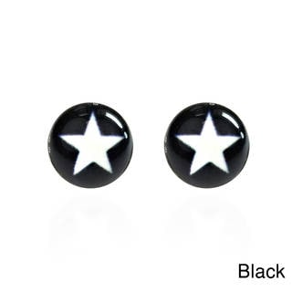 Simple Enamel Star .925 Silver Stud Earrings (Thailand)