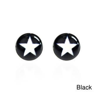 Simple Enamel Star .925 Silver Stud Earrings (Thailand)