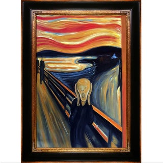 Edvard Munch 'The Scream' Hand Painted Framed Canvas Art