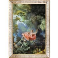 Jean Fragonard 'The Swing, c.1765' Hand Painted Framed Canvas Art
