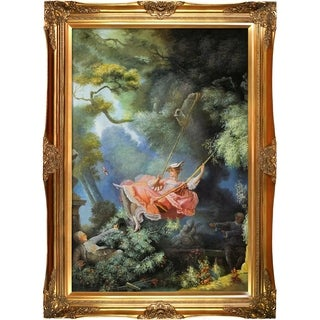 Jean Fragonard 'The Swing, c.1765' Hand Painted Framed Canvas Art