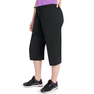 Champion Women's Plus Jersey Capri Pants|https://ak1.ostkcdn.com/images/products/12357273/P19184505.jpg?impolicy=medium