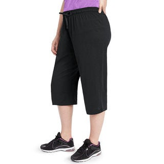 Champion Women's Plus Jersey Capri Pants (As Is Item)