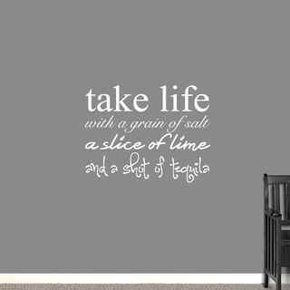 Take Life With a Grain of Salt Wall Decal - 36 x 28 Inches
