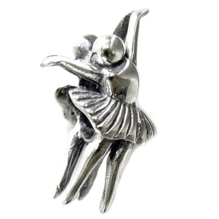 Queenberry Sterling Silver Ballet Dancer Ballerina European Bead Charm