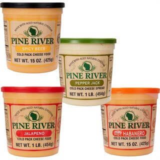 Pine River's Spicy 4-piece Gourmet Cheese Spread Set