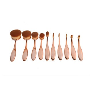 La Sante Artist Collection Luxurious 10-piece Oval Makeup Brush Set