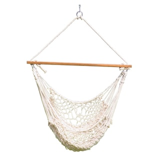 "Cotton Rope Hammock Swing (Natural) 44""x 60"""