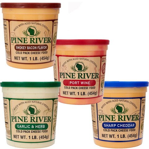 Pine River's Fab Four Pack Gourmet Cheese Spreads