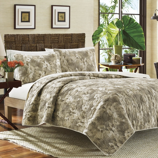 Tommy Bahama Hibiscus Haven Cotton Quilt Set