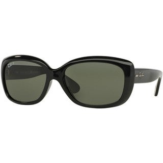Ray-Ban Women's RB4101 Jackie Ohh Shiny Black Sunglasses (As Is Item)
